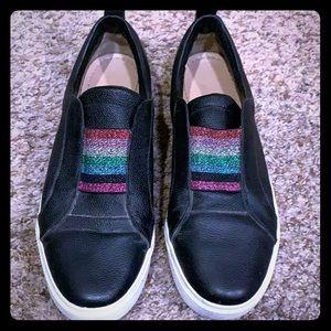 Kaanas slip on sneakers with metallic rainbow